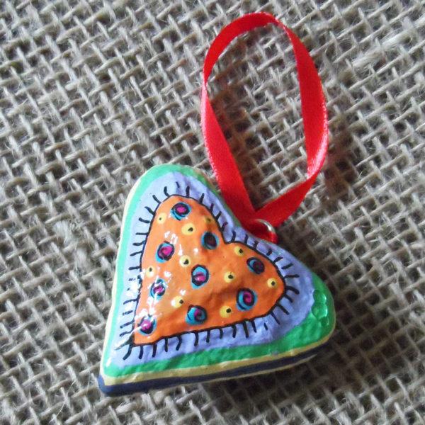 3-papier-mache-heart-hand-painted-Swaziland-for-sale-bazaar-africa