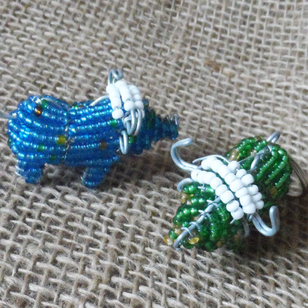 3D-keyring-beaded-buffalo-wire-South-African-for-sale-bazaar-africa