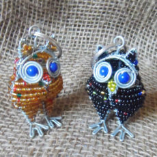 3D-owl-keyring-beaded-wire-South-African-for-sale-bazaar-africa