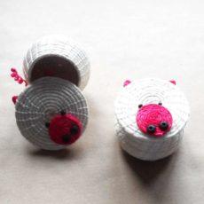 Piggy woven box from eSwatini