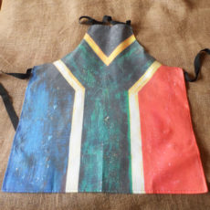 South African flag apron