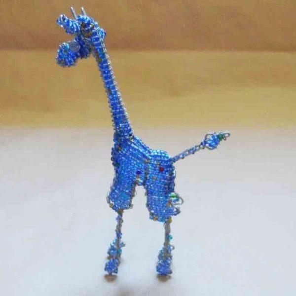 Cute blue beaded giraffe