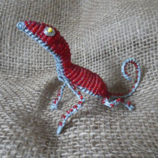 Handmade beaded gecko