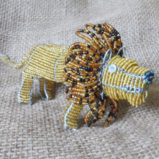 Handsome beaded lion crafted in beads