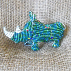 Small beaded rhino from Africa