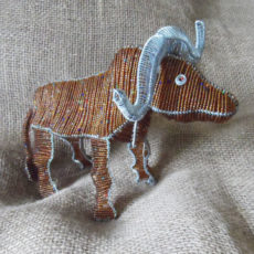 Large beaded buffalo, hand crafted in S.Africa
