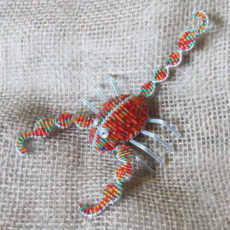 Super scorpion crafted in seed beads
