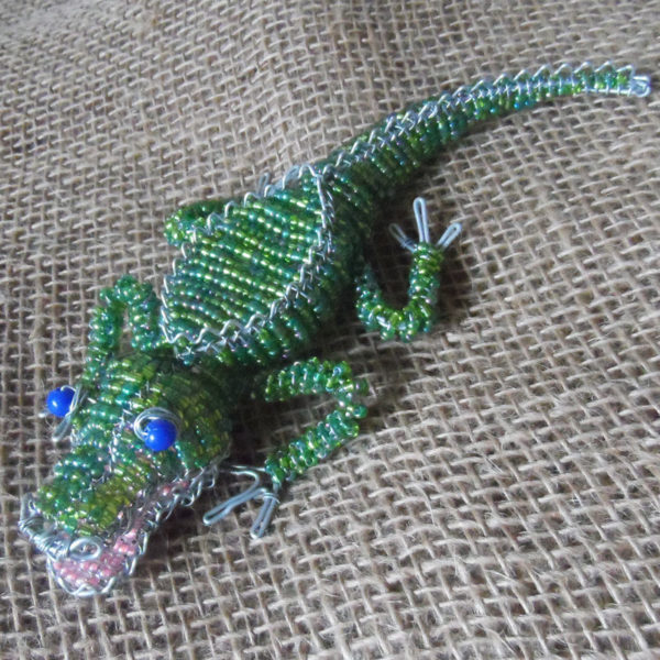 Small beaded crocodile