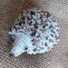Cutest hedgehog handmade in seed beads