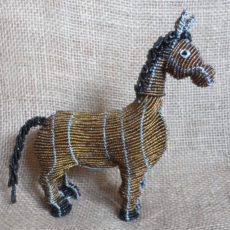 Beaded horse, handmade in S. Africa
