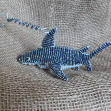 Hanging beaded shark from Africa