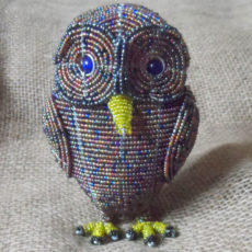 beaded night owl hand crafted in S.Africa