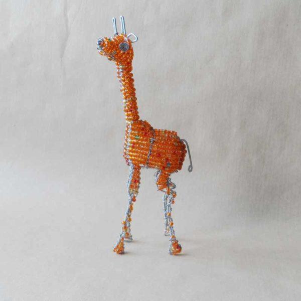 Small beaded giraffe handmade in Africa