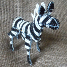 Beaded zebra hand crafted in S. Africa