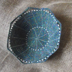 Decorative beaded bowl handmade in Kenya