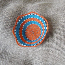 Small pretty hand made bead bowl from Kenya