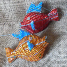 Hangind beaded fish