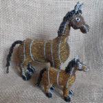 beaded horses
