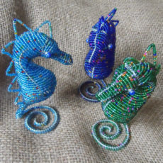 Beaded-3D-seahorse-on-wire-frames-for-sale-bazaar-africa