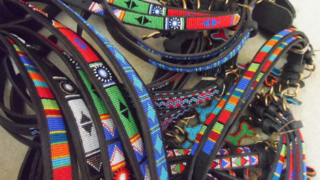 Beaded-Kenyan-dog-collars-leather-for-sale-Bazaar-Africa