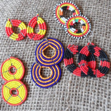 Beaded-Maasai-earrings-loops-for-sale-bazaar-africa