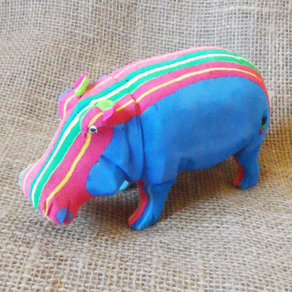 Hippo hand made from recycled flip flops