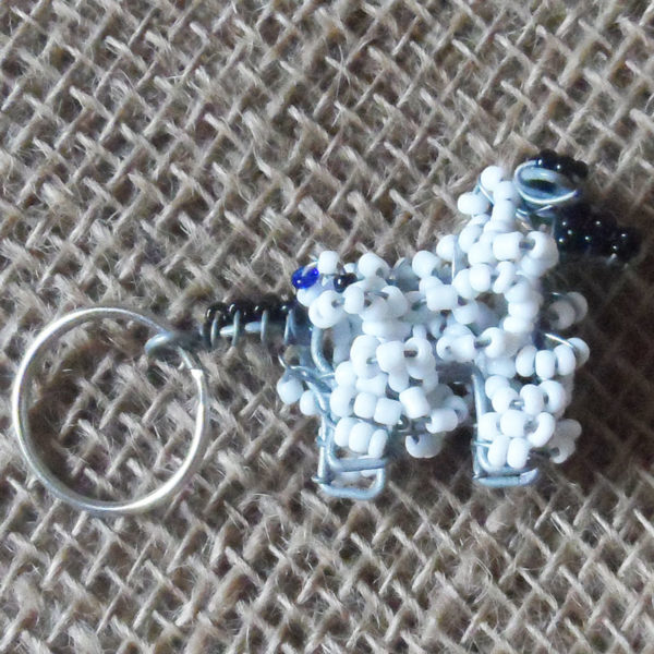 KY7s-3D-keyring-beaded-sheep-wire-South-African-for-sale-bazaar-africa