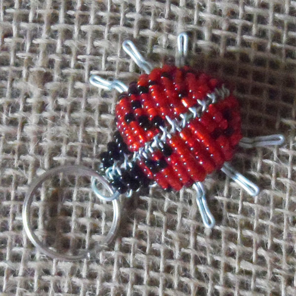 KYBlb3-3D-keyring-beaded-ladybird-wire-South-African-for-sale-bazaar-africa