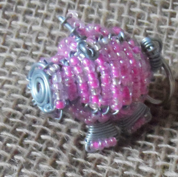 KYBp3-3D-keyring-beaded-pig-wire-South-African-for-sale-bazaar-africa