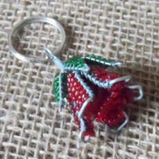 KYBr3-3D-keyring-beaded-rose-wire-South-African-for-sale-bazaar-africa