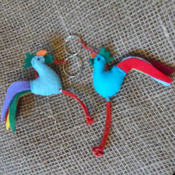 KYfc-felt-cockerel-hand-sewn-key-ring-for-sale-bazaar-africa