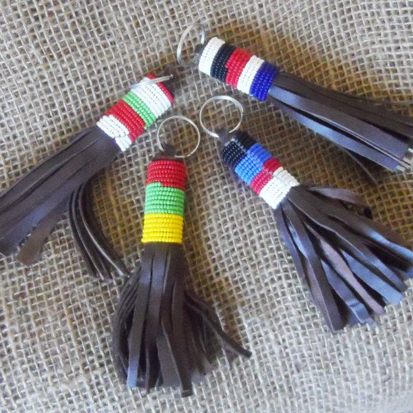 Leather1-bead-keyring-handmade-in-Kenya-for-sale-bazaar-africa