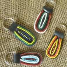 Maasai-beaded-key-fobs-mixed-oval-for-sale-bazaar-africa