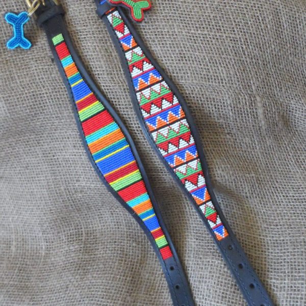 Maasai-beaded-lurcher-dog-collars-on-leather-handmade