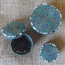 Beaded trinket box handmade in Kenya