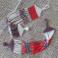 Multi-strand-wide-red-plum-seed-bead-Zulu-bracelet-for-sale-bazaar-africa