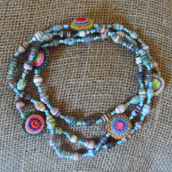 Nkpf2-Paper-bead-felt-long-necklace-multi-handmade-Kenya-for-sale-bazaar-africa