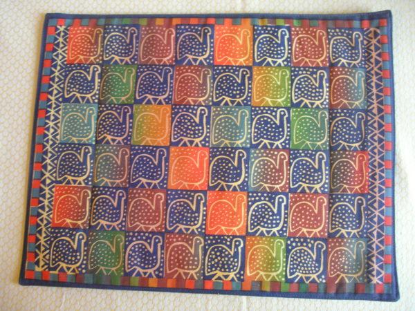 screen-print-geometric-cotton-single-rainbow-place-mats-guinea-fowl-Zimbabwe