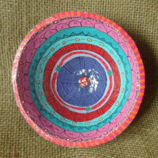 Hand made papier mache bowl