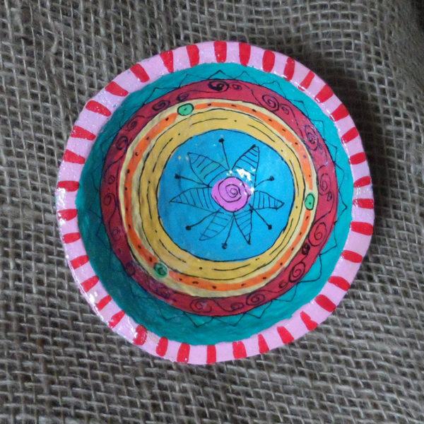 Hand made papier mache bowl from eSwatini