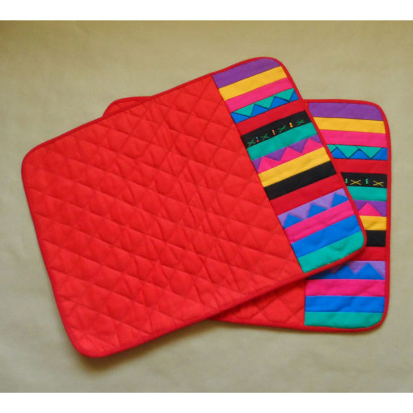 patchwork-place-mats crafted in S. Africa