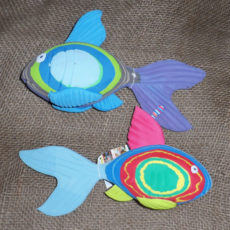Beautiful fish hand crafted from recycled flip flops in Kenya