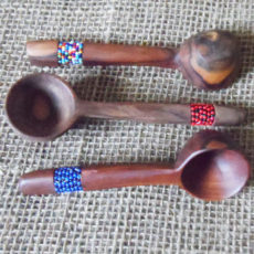 Scoop-beaded-wooden-spoons from Kenya
