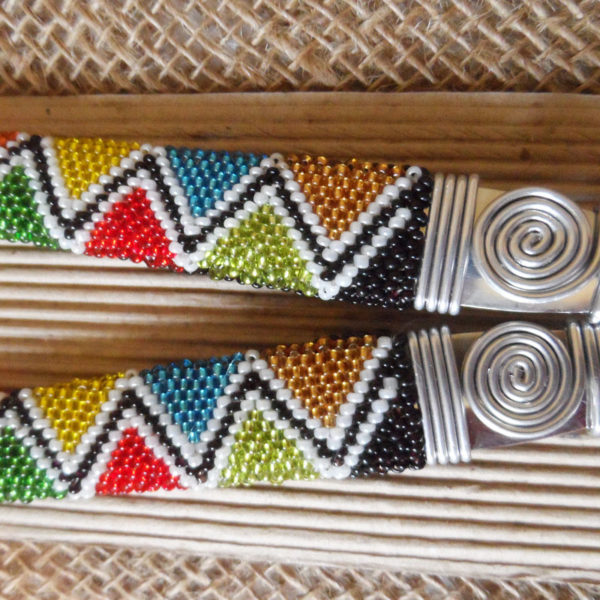 Stainless-steel-salad-spoons-with-patterned-beaded-handles-crafted-by-hand-in-south-africa-for-sale-bazaar-africa