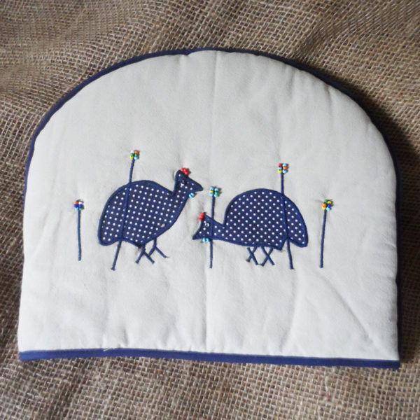 TCgf-applique-teacosy-with-guinea-fowl-handmade-in-South-Africa-for-sale-bazaar-africa