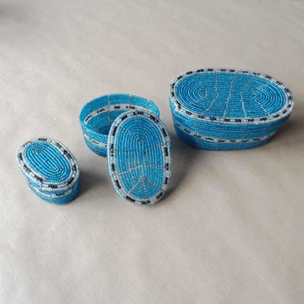 Handcrafted bead boxes from Kenya