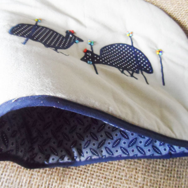applique-teacosy-with-guinea-fowl-handmade-in-South-Africa-for-sale-bazaar-africa