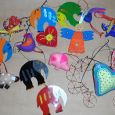 Hanging ornaments, hooks and mobiles
