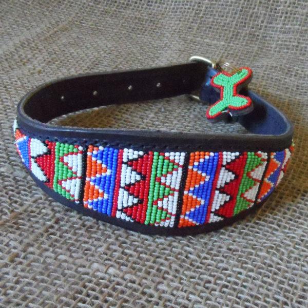 Maasai-beaded-lurcher-dog-collars-on-leather-handmade-in-Kenya
