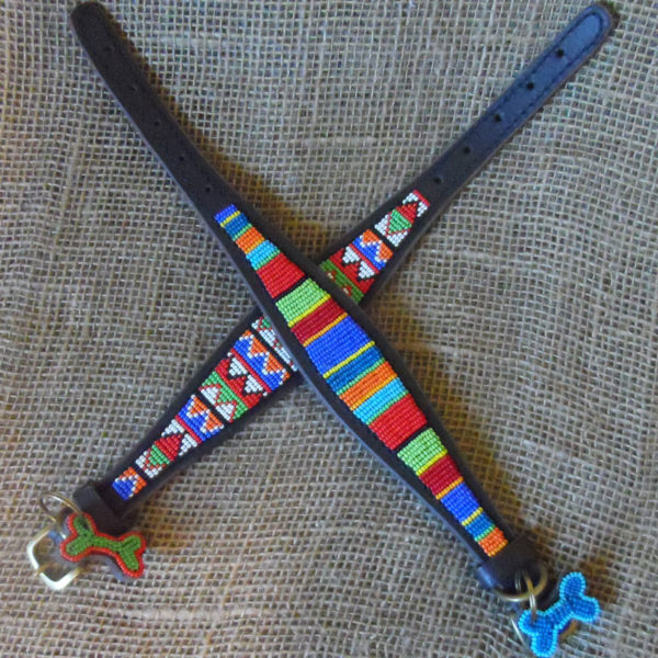Maasai-beaded-greyhound-dog-collars-on-leather-handmade-in-Kenya